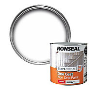 Ronseal White Gloss One coat non drip paint 2.5L