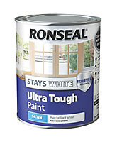 Ronseal Pure brilliant white Satin Wood & metal paint 0.75L