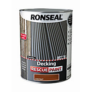 Ronseal Deck rescue Chestnut Matt Opaque Decking paint 5L