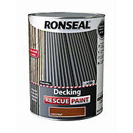 Ronseal Rescue Matt chestnut Decking paint, 5L