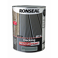 Ronseal Deck rescue Slate Matt Opaque Decking paint 5L