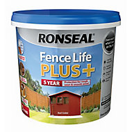 Ronseal Fence life plus Red cedar Matt Fence & shed Wood treatment, 5L