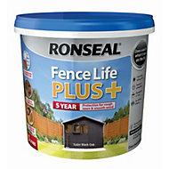 Ronseal Fence life Tudor black oak Matt Opaque Shed & fence treatment 5L