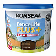Ronseal Fence life Country oak Matt Opaque Shed & fence treatment 9L