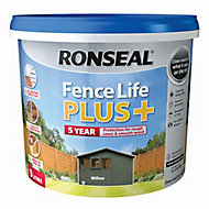 Ronseal Fence life plus Willow Matt Fence & shed Wood treatment, 9L