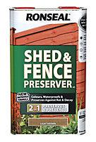 Ronseal Light brown Matt Fence & shed Wood preserver, 5L
