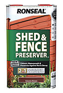 Ronseal Autumn brown Fence & shed Wood preserver, 5L