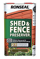 Ronseal Green Fence & shed Wood preserver, 5L