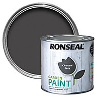 Ronseal Garden Charcoal grey Matt Metal & wood paint, 0.25L