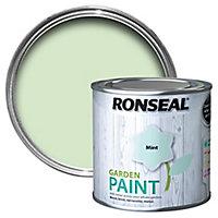 Ronseal Garden Mint Matt Metal & wood paint, 0.25L