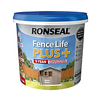 Ronseal Fence life plus Warm stone Matt Fence & shed Wood treatment, 5L