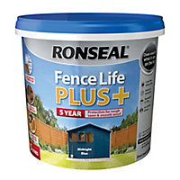 Ronseal Fence life plus Midnight blue Matt Fence & shed Wood treatment, 5L