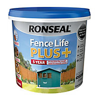 Ronseal Fence life plus Teal Matt Fence & shed Wood treatment, 5L