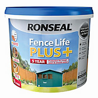 Ronseal Fence life plus Teal Matt Fence & shed Wood treatment, 9L