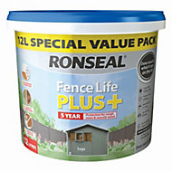 Ronseal Fence life Sage Matt Opaque Shed & fence treatment 12L