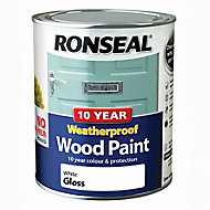 Ronseal White Gloss Wood paint, 0.75L