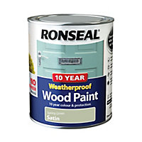 Ronseal Spring green Satin Wood paint, 0.75L