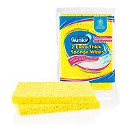 Minky Thick Sponge wipe, Pack of 2