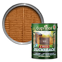 Cuprinol 5 year ducksback Harvest brown Fence & shed Wood treatment, 5L