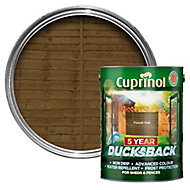 Cuprinol 5 year ducksback Forest oak Fence & shed Wood treatment, 5L