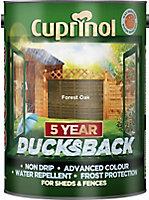 Cuprinol 5 year ducksback Forest oak Fence & shed Wood treatment, 5L