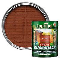 Cuprinol 5 year ducksback Rich cedar Fence & shed Wood treatment, 5L