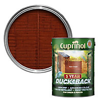 Cuprinol 5 year ducksback Rich cedar Fence & shed Wood treatment, 5L