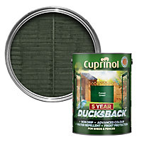 Cuprinol 5 year ducksback Forest green Fence & shed Wood treatment, 5L