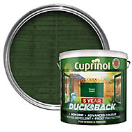 Cuprinol 5 year ducksback Forest green Fence & shed Wood treatment, 9L