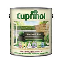 Cuprinol Garden Shades English green Matt Wood paint 2.5L