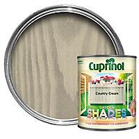 Cuprinol Garden shades Country cream Matt Wood paint, 1L