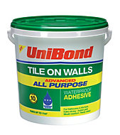 UniBond Ready to use Wall tile adhesive, Beige 14.75kg