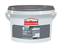 UniBond Grey Ready mixed Floor tile Grout, 3.75kg