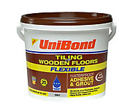 UniBond Ready mixed Grey Floor Tile Adhesive & grout, 7.3kg