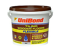 UniBond Ready to use Floor tile adhesive & grout, Grey 7.3kg
