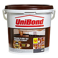 UniBond Ready to use Floor tile adhesive & grout, Grey 14.3kg