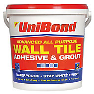UniBond Ready mixed White Wall Tile Adhesive & grout, 12.8kg