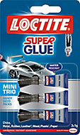 Loctite Mini trio Liquid Superglue 1ml, Pack of 3