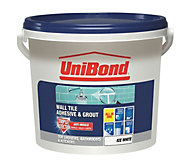 UniBond Ready to use Wall tile adhesive & grout, Ice white 12.8kg