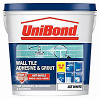 UniBond Ready mixed Ice white Wall Tile Adhesive & grout, 6.4kg