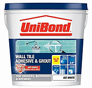 UniBond Ready to use Wall tile adhesive & grout, Ice white 1.28kg
