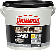 UniBond Ready to use Floor tile adhesive & grout, Grey 7.2kg