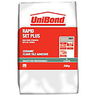 UniBond Rapid set plus Powder Floor tile adhesive, Grey 20kg