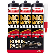 UniBond Grab adhesive 0.84L, Pack of 3