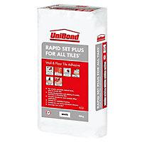UniBond Rapid set Powder Wall & floor tile adhesive, White 20kg