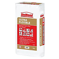 UniBond Ultra flex Ready mixed White Floor Tile Adhesive & grout, 20kg