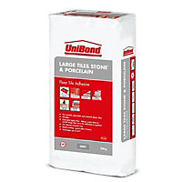 UniBond Large tiles Ready mixed Grey Floor Tile Adhesive & grout, 20kg