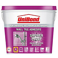 UniBond Showerproof Ready to use Wall tile adhesive, Beige 10L