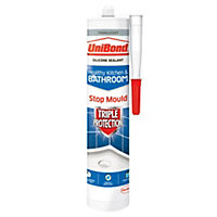 UniBond Triple Protect Anti Mould Translucent Kitchen & Bathroom Sealant 300 ml