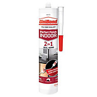 UniBond Perfect Finish Indoor 2in1 Seal + Bond White General Purpose Sealant 300 ml